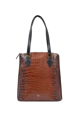 Hidesign Scorpio 01 Sb Brown Textured Leather Shoulder Bag