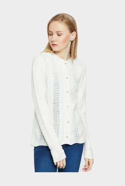 cf31559c24a MADAME Off White Crochet Cardigan