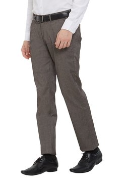 Easies By Killer Grey Slim Fit Flat Front Trousers