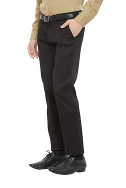 Easies By Killer Black Slim Fit Flat Front Trousers