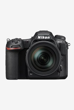 Nikon D500 (16-80mm Lens Kit) DSLR Camera 64GB Card + Camera Bag (Black)