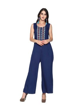 8e3997a4e4 Untung Blue Embroidered Jumpsuit