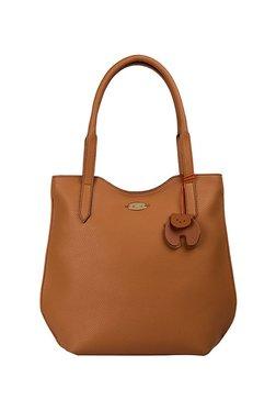 654eafd520 St.Holii by Holii Holly 01 Tan Solid Leather Shoulder Bag