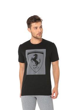 103bd3ed46f Puma Black Round Neck Cotton T-Shirt
