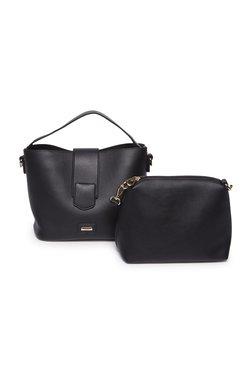 LOV by Westside Black Satchel Bag With Pouch 6983eb1f4c1c7