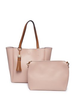 LOV by Westside Pink Tote Bag With Pouch 61619c6388747