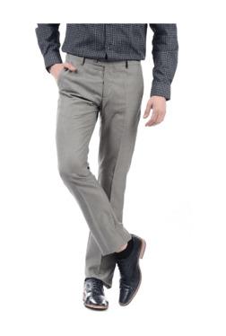 5ebbd1d89308 Arrow Grey Regular Fit Flat Front Trousers