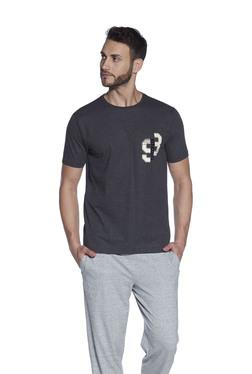 0a165580f4 Body Basics by Westside Grey Slim Fit Text Print T-Shirt