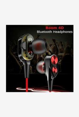 5998f4d98f3 PTron BT Boom Bluetooth Headset with Mic (RedBlack)