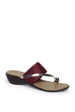 e4307b0bf99 Zudio Maroon Wedge Heel Sandals