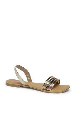 0323bdd4b93 Zudio Black Faux Leather Derby Shoes. ₹999. Zudio Gold Multi-Strap Sandals