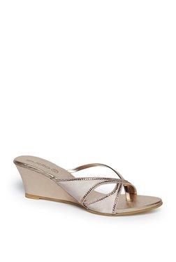 8efcdc8c6d9e0 Zudio Pink Rhinestone Detailed Wedge Heel Sandals