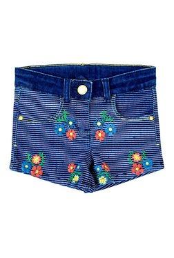 10856e114e3bd3 Tales   Stories Kids Dark Blue Striped Shorts