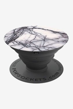 PopSockets Marble Grip and Stand for Smartphones and Tablets (White)