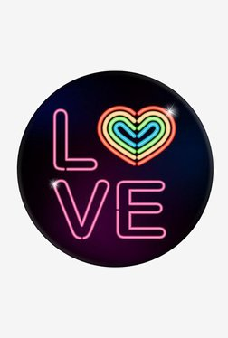 PopSockets Neon Love Grip and Stand for Smartphones and Tablets (Multicolor)