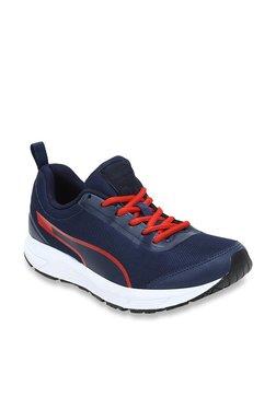 c74dc0fb5b55 Puma Felix Runner Idp Castor Gray Red Blast Navy Blue Running Shoes ...