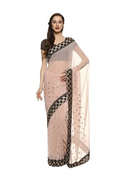 3578e7aa2 Soch Peach Zari Work Saree With Blouse