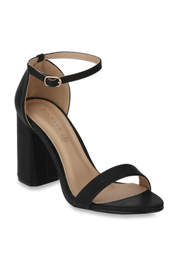 afd8b22a2ffa Truffle Collection Black Ankle Strap Sandals