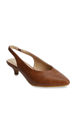 2c1dc9848c6 Truffle Collection Tan Sling Back Sandals