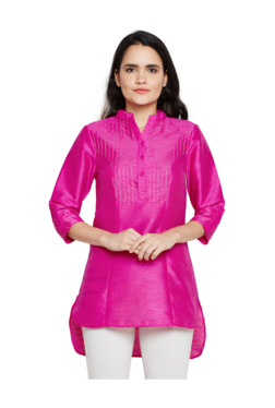 1aeac7aa5 Oxolloxo Pink Embroidered Tunic
