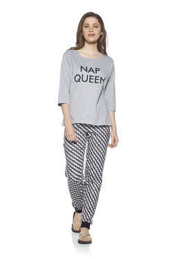 8f2736407 Zudio Grey T-Shirt And Pyjama Set