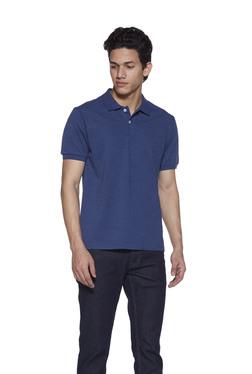 675599a4ab54d5 Zudio Indigo Polo Neck T-Shirt