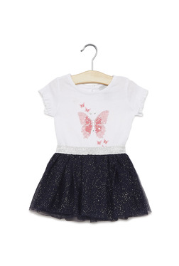 Baby HOP by Westside White Top and Skirt Set
