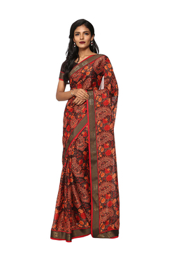 fd99650b8f2c5 Soch Red Paisley Print Saree With Blouse