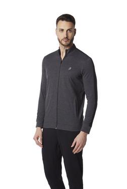 637b80e3a90 Studiofit by Westside Anthra Melange Slim Fit Jacket
