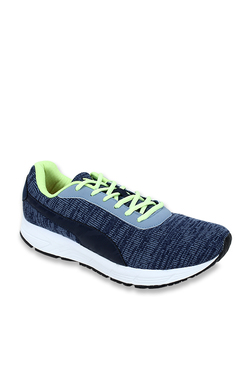 0caf8dfd28a2 Puma Deng Idp Peacoat Limepunch Navy Blue Running Shoes for Men ...