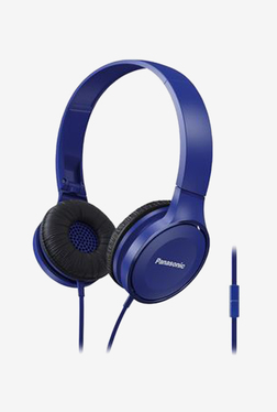 Panasonic RP-HF100M-A On The Ear Headphones With Mic (Blue)