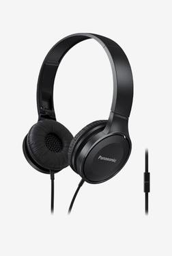 Panasonic RP-HF100M-K On The Ear Headphones With Mic (Black)