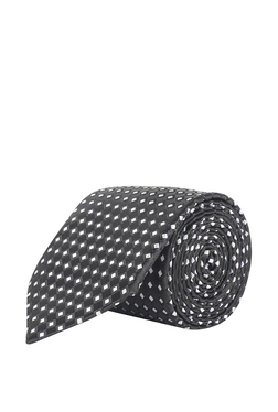bad60b3cf23 Peter England Black   White Woven Polyester Tie