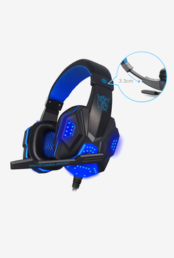 Not Available Over The Ear Gaming Headphones with Mic, LED and Vibration (Blue)