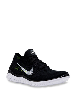 86bbe35e9c6e Nike Free RN Flyknit 2018 Black Running Shoes