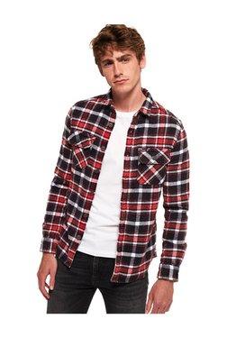 64b5b8be4f6 Superdry Black Checks Straight Fit Cotton Shirt