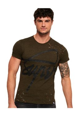 f5310532883895 Superdry Olive Printed T-Shirt