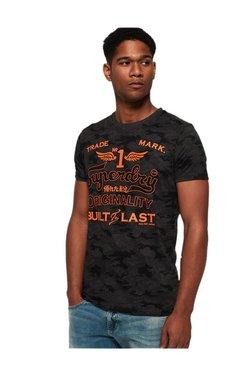 8d0f3b4d17764 Superdry Charcoal Camo Print T-Shirt