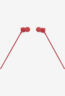 JBL T110 In The Ear Headphones with Mic (Red)