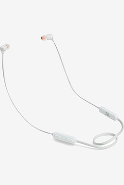 JBL T110BT In The Ear Bluetooth Headphones with Mic (White)