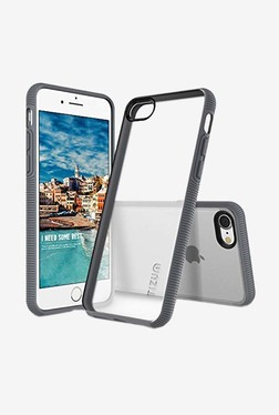 Tizum IntelliClear Hybrid Back Cover with Advanced Impact Protection for iphone 7 (Grey)