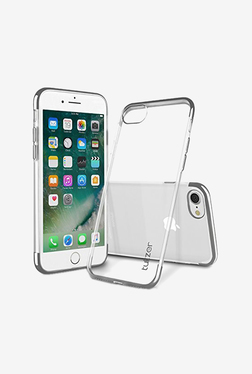 Tukzer Electro Plating Super Flexible Soft TPU Back Case Cover for Apple iPhone 7 (Silver)