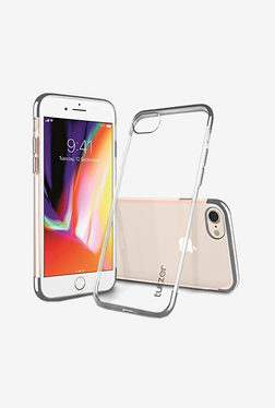 Tukzer Electro Plating Super Flexible Soft TPU Back Case Cover for Apple iPhone 8 (Silver)