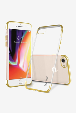 Tukzer Electro Plating Super Flexible Soft TPU Back Case Cover for Apple iPhone 8 (Gold)