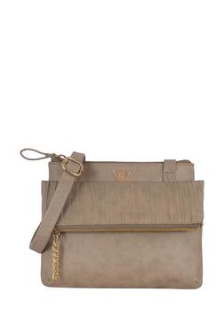 078f8e6ce Baggit Lxe4 Jax Y G Z E Chicago Khaki Textured Sling Bag