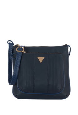 9e9b33f528 Baggit Lxe4 Looney Y G Z E Byron Navy Textured Sling Bag
