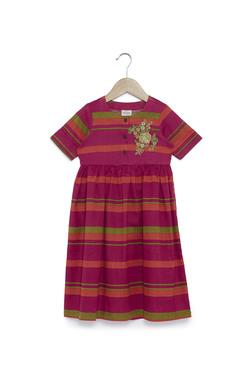 083a881138a Utsa Kids by Westside Pink Striped Dress