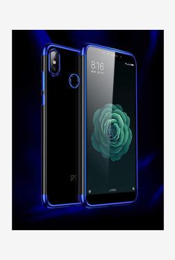 Brain Freezer 3D Elect Soft TPU Transparent Back Case for Xiaomi Mi A2 (Blue)