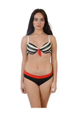 Da Intimo Black Striped Lingerie Set c9eaff225