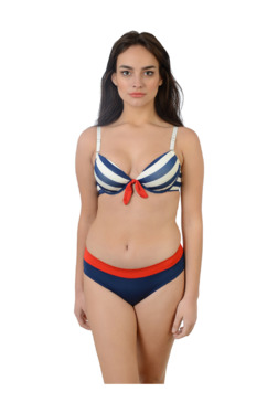 980d1c04da Da Intimo Blue Striped Lingerie Set